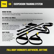 TRX GO Suspension Trainer System: Lightweight & Portable| Full Body Workouts, All Levels & All Goals| Includes Get Started Poster, 2 Workout Guides & IndoorOutdoor Anchors