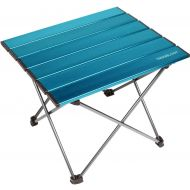 Trekology Portable Camping Side Tables with Aluminum Table Top: Hard-Topped Folding Table in a Bag for Picnic, Camp, Beach, Boat, Useful for Dining & Cooking with Burner, Easy to C