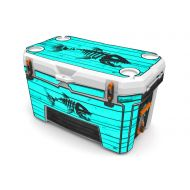 USATuff Wrap (Cooler Not Included) - Full Kit Fits Ozark Trail 73QT - Protective Custom Vinyl Decal -Bonefish Wood Teal