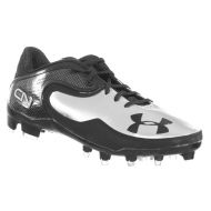 Under Armour Mens Football Cleats CAM LOW MC Cam Newton Black Silver 9 M