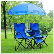 Unknown Portable Folding Picnic Double Chair wUmbrella Table Cooler Beach Camping Chair Cozy and Durable