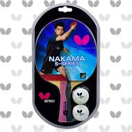 Butterfly Nakama S-5 Table Tennis Racket  ITTF Approved Ping Pong Paddle  Carbon Ping Pong Paddle  Table Tennis Rubber Thick Sponge Layer Ping Pong Racket  2 Ping Pong Balls In