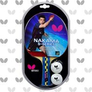 Butterfly Nakama S-4 Table Tennis Racket - Carbon Blade - Wakaba 2.1mm Rubbers ITTF Approved