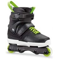 Rollerblade NJR Kids Size Adjustable Street Inline Skate, Black and Green, High Performance Inline Skates