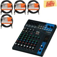 Yamaha MG10 10-Channel Mixing Console Bundle with Vocal Mic, Headphones, XLR Cable, Instrument Cable, and Polishing Cloth