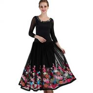 YuLin Standard Ballroom Skirt Embroidery Modern Tango Dance Show Competition Dresses